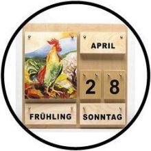 Holzkalender Die Vier Jahreszeiten