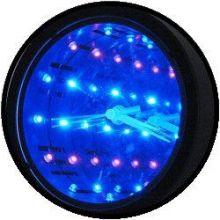 Licht Dekoration - unendlicher Spiegel mit Uhr