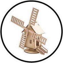 Holzbausatz Windmühle