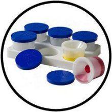 Farbbehälter mit 6 Anti-Klecker-Behältern