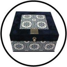 Teebox Bastelset 4-Fachs Ornament
