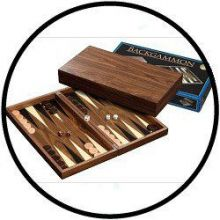Backgammon Koffer Skeloudi groß