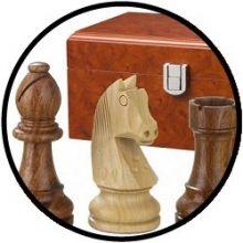 Schachfiguren antik 95 mm