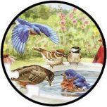 35 Teile Puzzle 'Bathing Birds'
