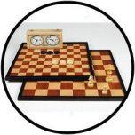 Schach- und Damebrett 47 cm