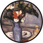 Cezanne Flowers in Blue Vase Puzzle - 48 große Teile