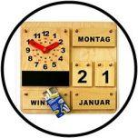Aktionsuhr und Kalender